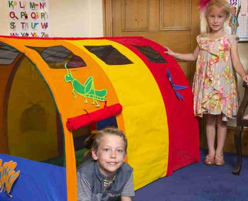 casette e tende gioco per bambini