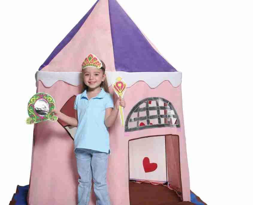 tenda casetta gioco principessa