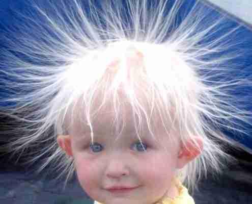 elettricità statica capelli