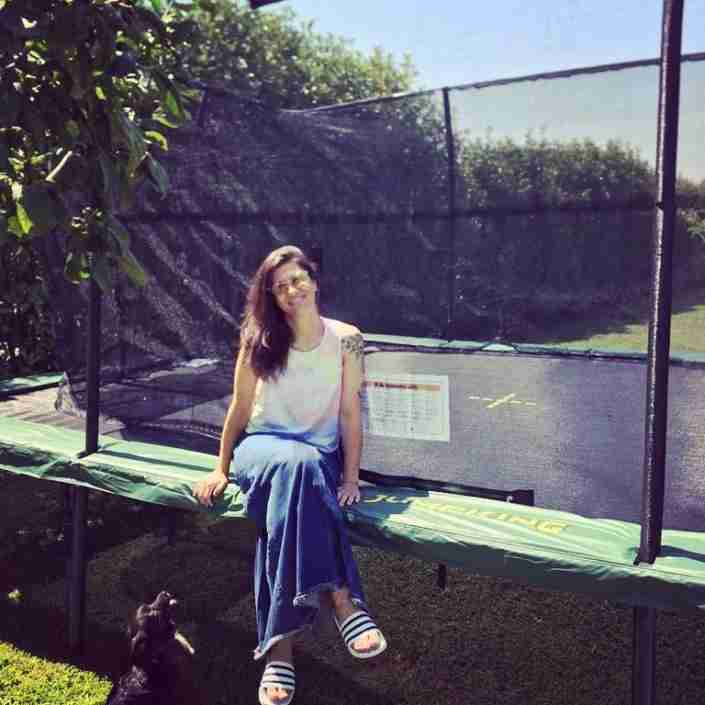 Elisa con il trampolino Jumpking
